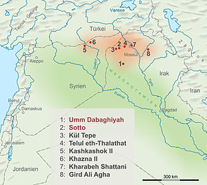 Hassuna culture - Some Proto-Hassuna sites