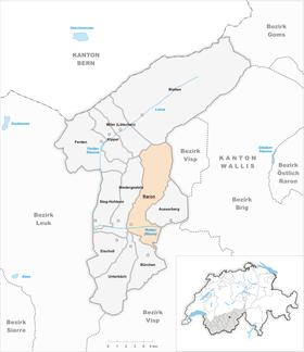 Karte Gemeinde Raron 2009