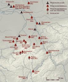 Raubzüge der wikinger in das rheinland