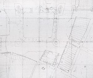 Vredenburg Castle - Image: Kasteel Vredenburg ontwerptekening Rombout II Keldermans in 1529