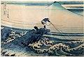 Katsushika Hokusai, kajikazawa nella provincia di kai, dalla serie delle 36 vedute del monte fuji, 1831 ca.jpg
