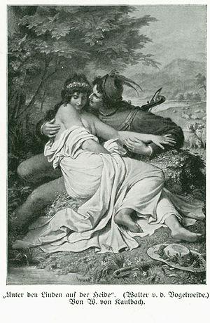 """Under der linden - """"Unter den Linden auf der Heide"""", illustration by Wilhelm von Kaulbach"""