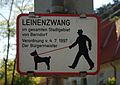 Keep dogs on leash sign, Berndorf.jpg