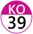 Keio KO39 station number.png