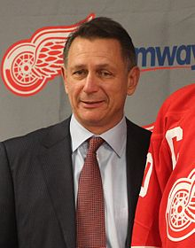 Ken Holland during a press conference at Joe Louis arena