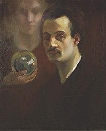 Khalil Gibran - Autorretrato con musa, c. 1911.jpg