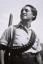 A member of Kibbutz Ma'abarot on guard duty, 1936