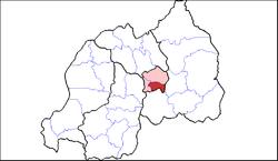 Shown within Kigali Province and Rwanda