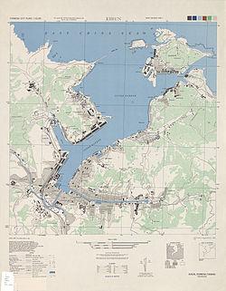 1945年美军绘制的基隆港地图