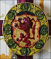 King's Bedchamber Stirling Castle, Order of the Thissil Ceiling Boss (5897447087).jpg