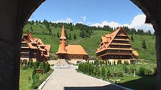 Vatra Dornei - Traditional Romanian wooden church in Dorna-Arini