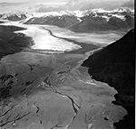 Knik Glacier, valley glacier terminus, September 4, 1966 (GLACIERS 5024).jpg