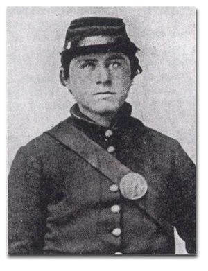 Knute Nelson - Civil war photograph of Nelson