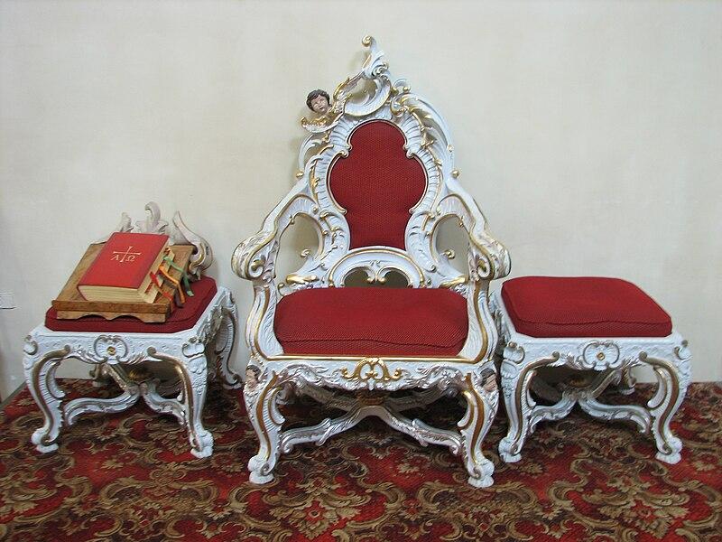 Файл: Kościół parafialny Лендек - fotel.jpg
