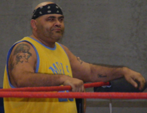 CMLL World Heavyweight Championship - Konnan el Bárbaro (depicted in 2011) was the first ever CMLL World Heavyweight Champion in 1991.