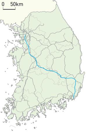 Gyeongbu high-speed railway - Image: Korail Gyeongbu HSR Line