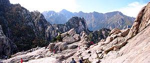 Seoraksan - Image: Korea Seoraksan Mount Gwongeumseong 01