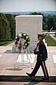 Korean War Veterans Association, Inc. President Larry Kinard and Ambassador of the Republic of Korea Ahn Ho-Young lay a wreath at the Tomb of the Unknown Soldier in Arlington National Cemetery (20030251745).jpg