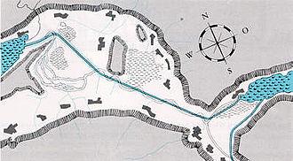 Linth - Conrad Escher's plan of the correction