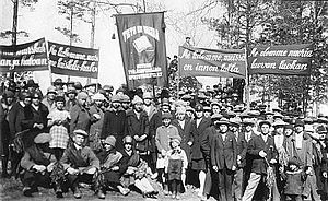 Young Communist League of Finland - Members of the Kotka Young Workers Study Circle, May Day 1928