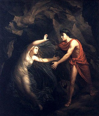 The Corridor (opera) - The moment when Orpheus looks back at Eurydice in an 1806 painting by Christian Gottlieb Kratzenstein