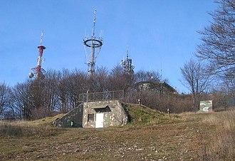 Mount Krim - Transmitter, former military bunker, and lodge on Mount Krim