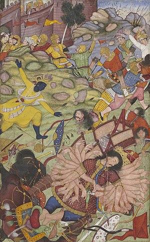 Banasura - Image: Krishna defeat Banasura