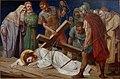 Kruisweg Sint-Pancratiuskerk, Heerlen, statie 09 Derde val van Jezus onder het kruis.jpg