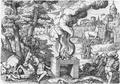 Kupferstich des Giovanni Battista Fontana, Cheval de Troye.png