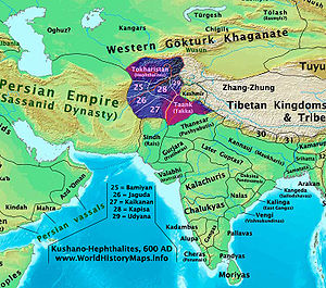 Eastern Hemisphere Map With Names Hephthalites - Wikiped...