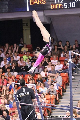 Kyla Ross - Ross on the uneven bars at the 2012 Secret U.S. Classic.