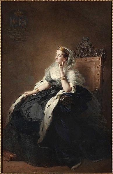 File:L'impératrice Eugénie en robe de cour, 1862, Franz Xaver Winterhalter.jpg