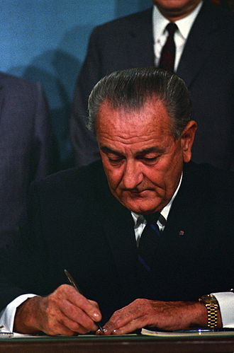 Public Broadcasting Act of 1967 - President Lyndon B. Johnson signs the Act on November 7, 1967.