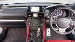 LEXUS RC300h F SPORT Japan 2014 Interior.JPG