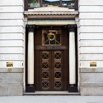 London Metal Exchange - Main entrance to the former premises of the LME, at 56 Leadenhall Street in the City of London