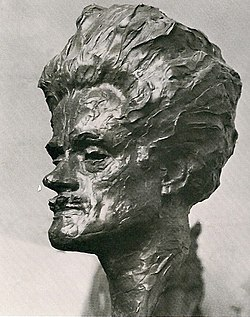 A bust of MacDiarmid sculpted in 1927 by William Lamb