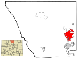 Location of Fort Collins shown within the State of Colorado