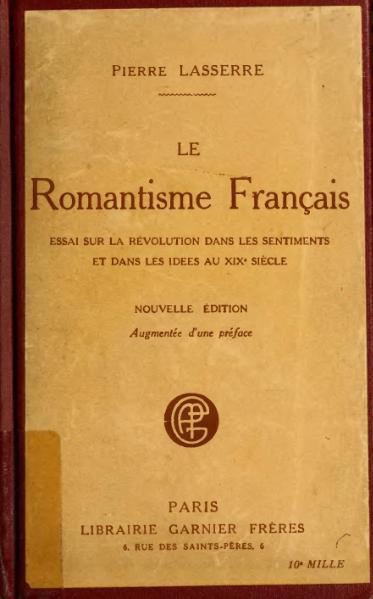File:Lasserre - Le Romantisme français, 1919.djvu