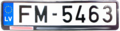 Latvian EU number plate front.png