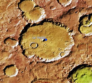 Le Verrier (Martian crater) crater on Mars