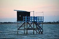 Le carrelet sur ponton à la Pointe du Chay Nord (8).JPG