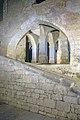 Le chateau de Beynac, la rampe d'acces a la cour interieure et la base du grand escalier, commune de Beynac-et-Cazenac, Dordogne, France.jpg