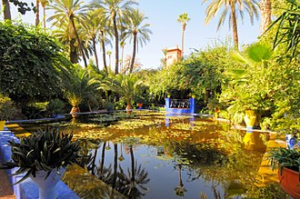 Majorelle Garden - Jardins Majorelle, water feature