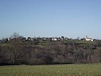 Le village de Chelle-Spou vu d'Artiguemy (Hautes-Pyrénées, France).JPG