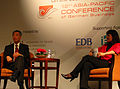 Lee Hsien Loong and Manuela Kasper-Claridge at the 12th Asia-Pacific Conference of German Business, Singapore - 20100514.jpg