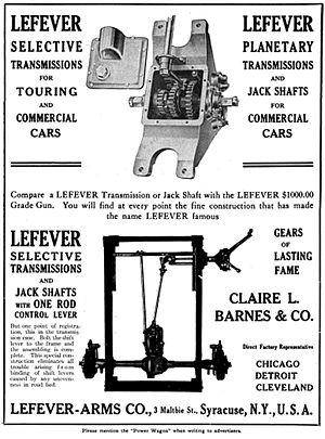 Lefever Arms Company - Lefever Arms Company - Advertisement, Power Trucks - 1912