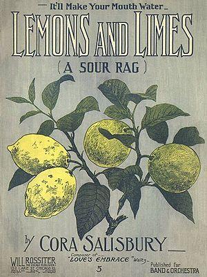 Cora Folsom Salisbury - Lemon and Limes - a 1909 rag