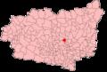 Leon Comarcas mapa KSpain Santovenia de la Valdoncina.png