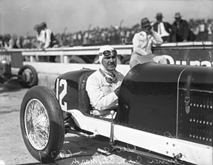Leon Duray - Leon Duray at Culver City, California racetrack, 1927