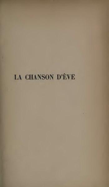 File:Lerberghe - La Chanson d'Eve.djvu